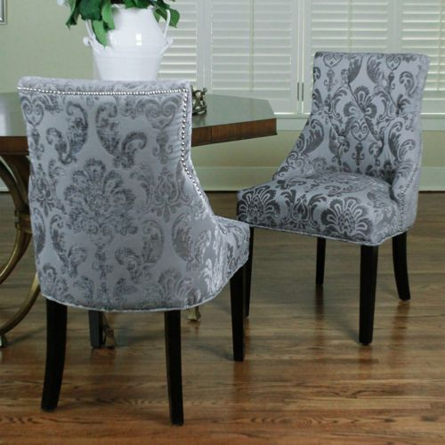 Madison Grey Fan Damask Chair 2pack my new space – Damask Dining Room Chairs