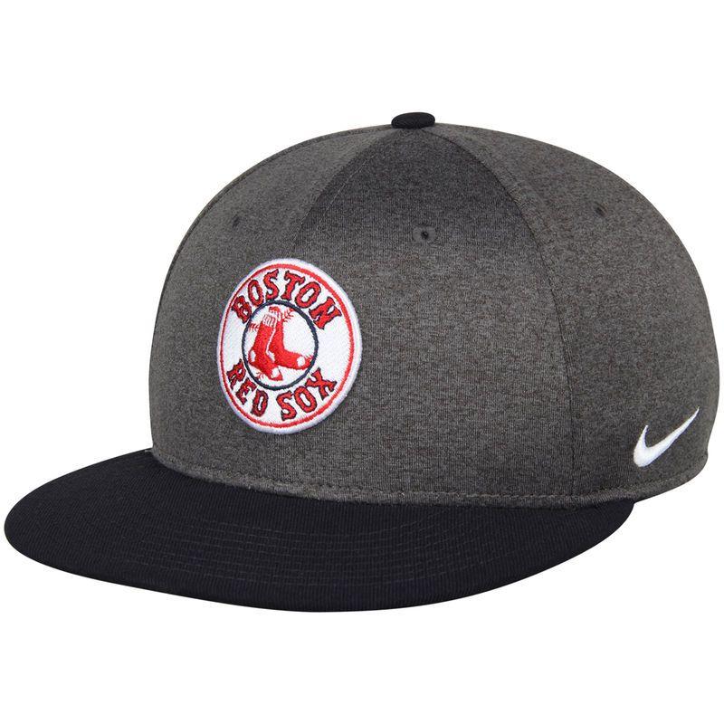 5e5a37b83 Boston Red Sox Nike True Adjustable Snapback Hat - Heathered Gray ...