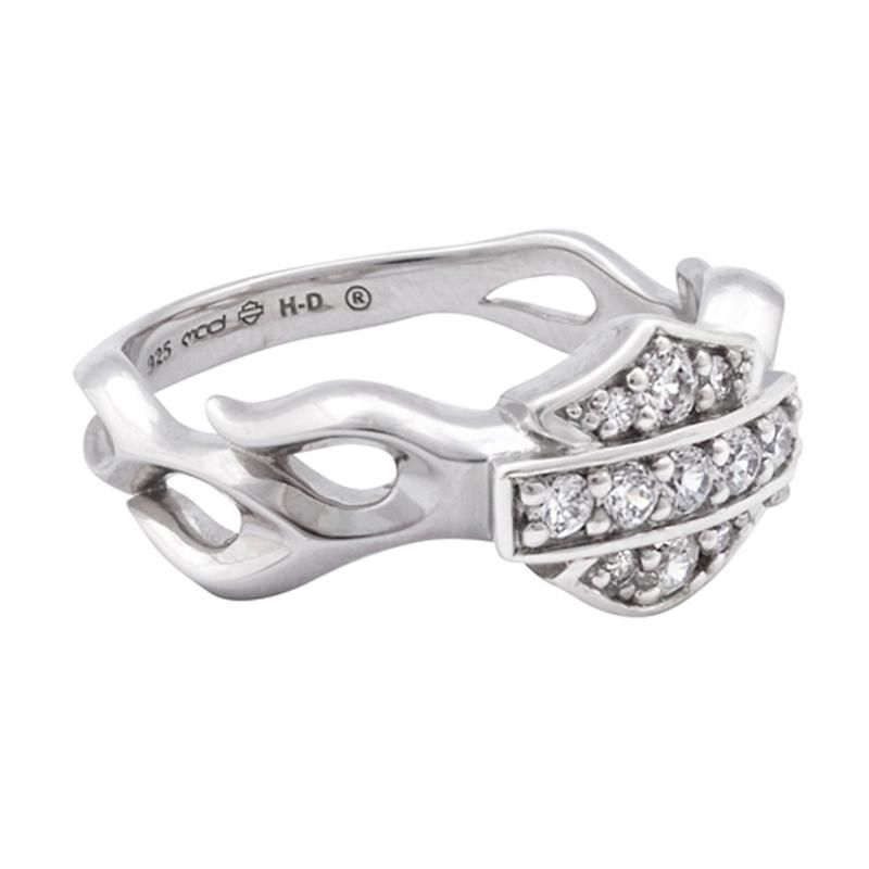 Harley Davidson Womens Inferno Bling Ring So I Wanna Be A Biker Harley Davidson Jewelry