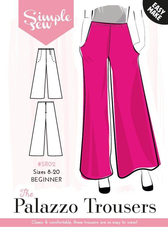 High waisted palazzo pants sewing pattern