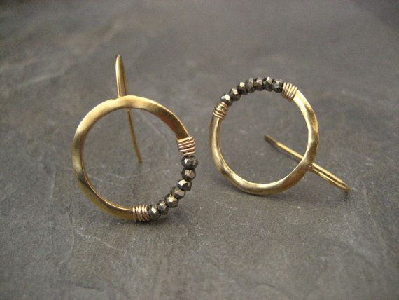2631bfc45d86e These small handmade hoop earrings are cast in 0.925 sterling silver ...