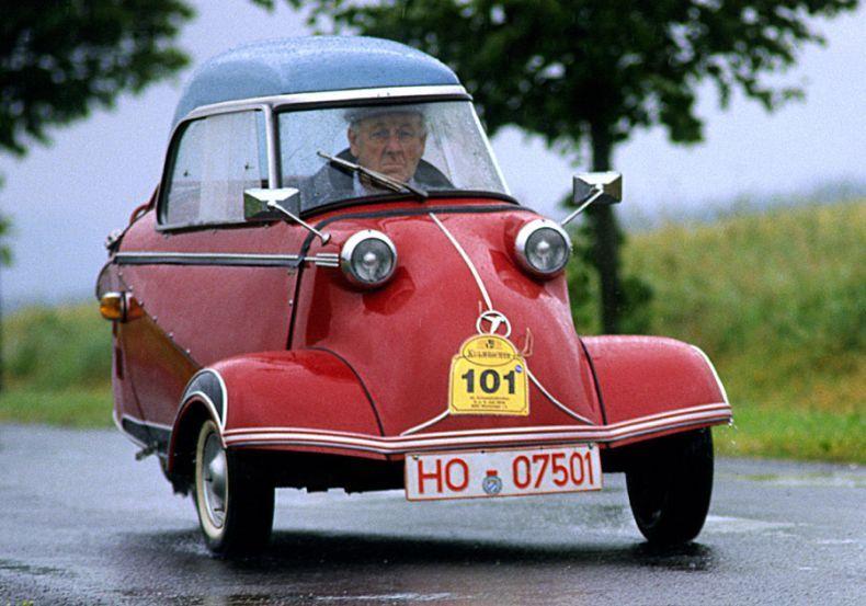 Little 3 Wheel German Car 1959 Messerschmitt T 500 Tiger