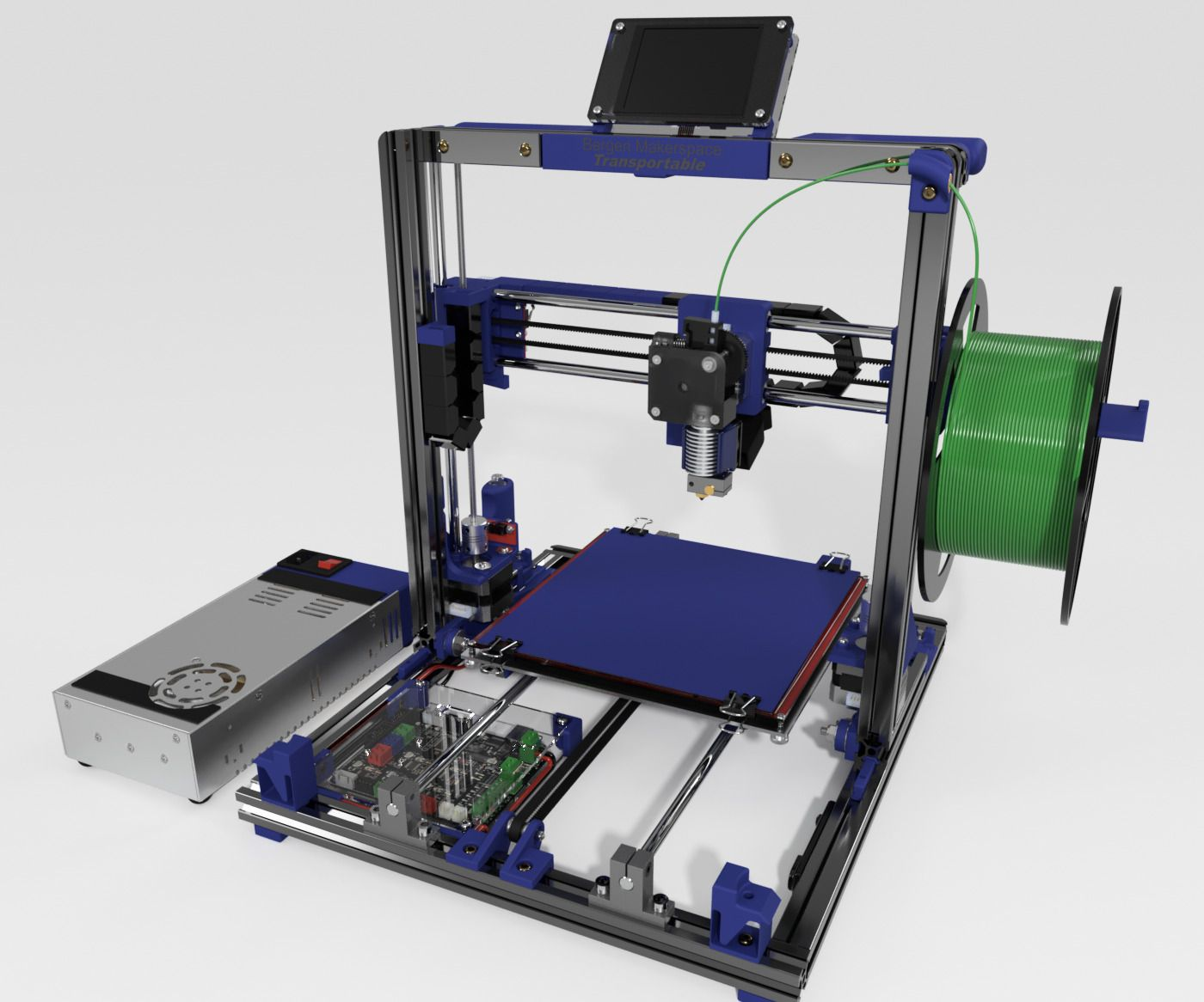 Bergen Makerspace Transportable 3d Printer Inspiration Pinterest Solid State Relay Reprap This Is A Cartesian Style Based On The Popular Open Source Prusa I3 Design By Josef Further For Came From