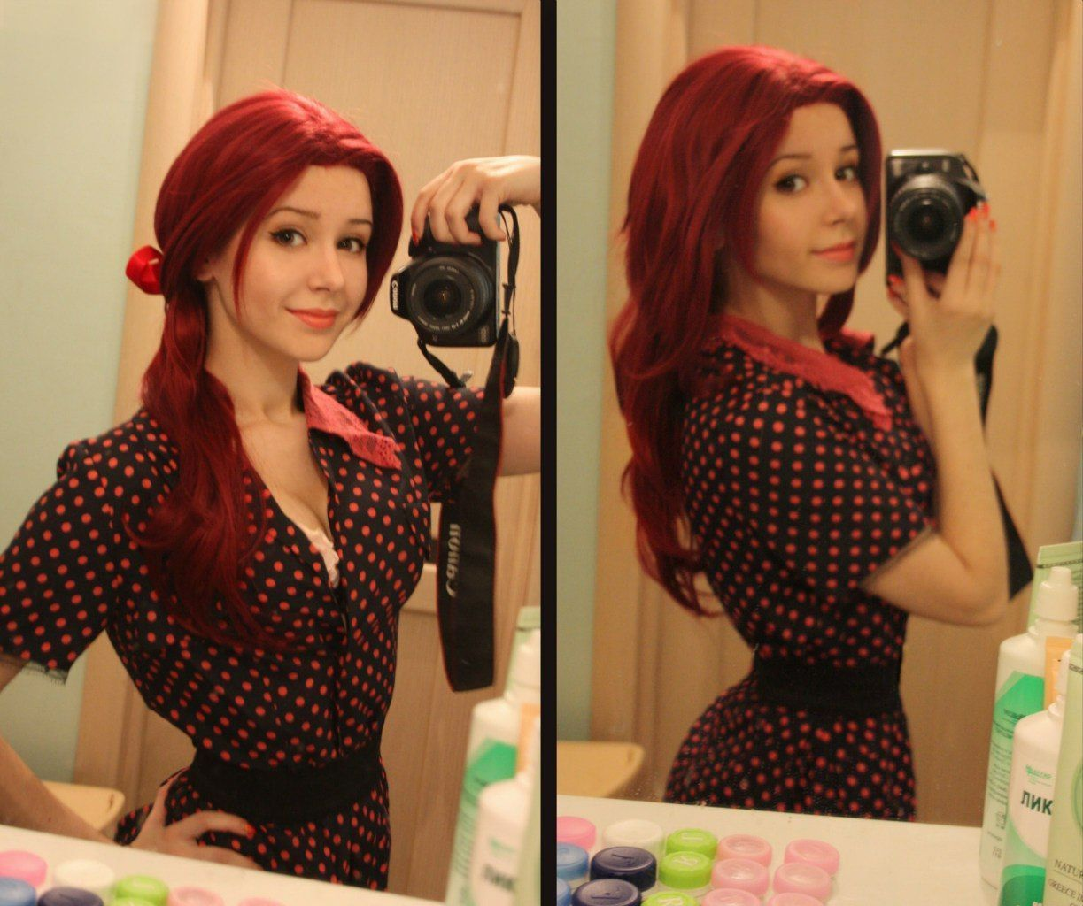 Naughty plump redhead