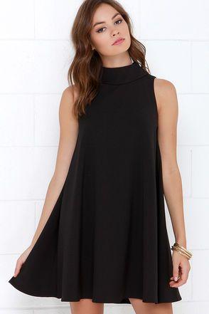 3e3da5a9b56a Mod Maven Black Swing Dress | Fashion | Dresses, Sleeveless ...