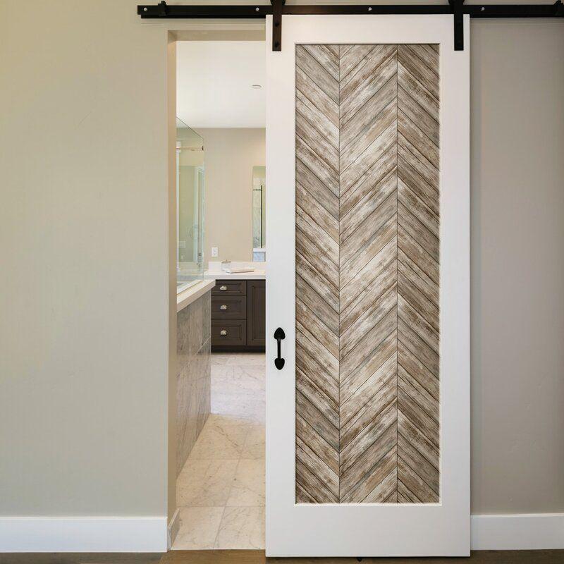 Healdton Herringbone Wood Boards 16 5 L X 20 5 W Peel And Stick Wallpaper Roll Herringbone Wood Peel And Stick Wallpaper Wood Accent Wall