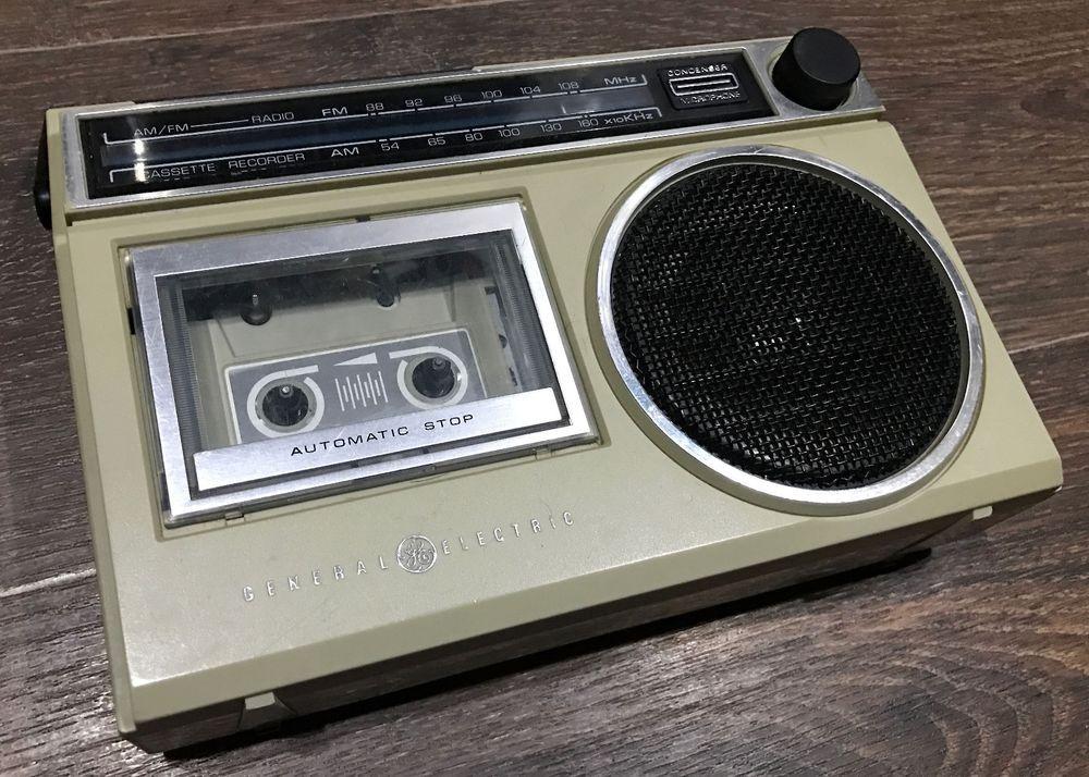 Vintage General Electric Ge Am Fm Super Radio Cassette Recorder 3 5240d Ebay Vintage Radio Vintage Radio