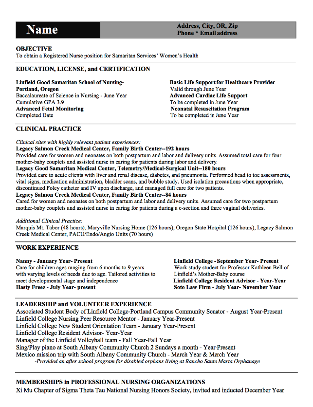 Rn Resume Samples Rn Resume Samples  Httpexampleresumecvrnresumesamples
