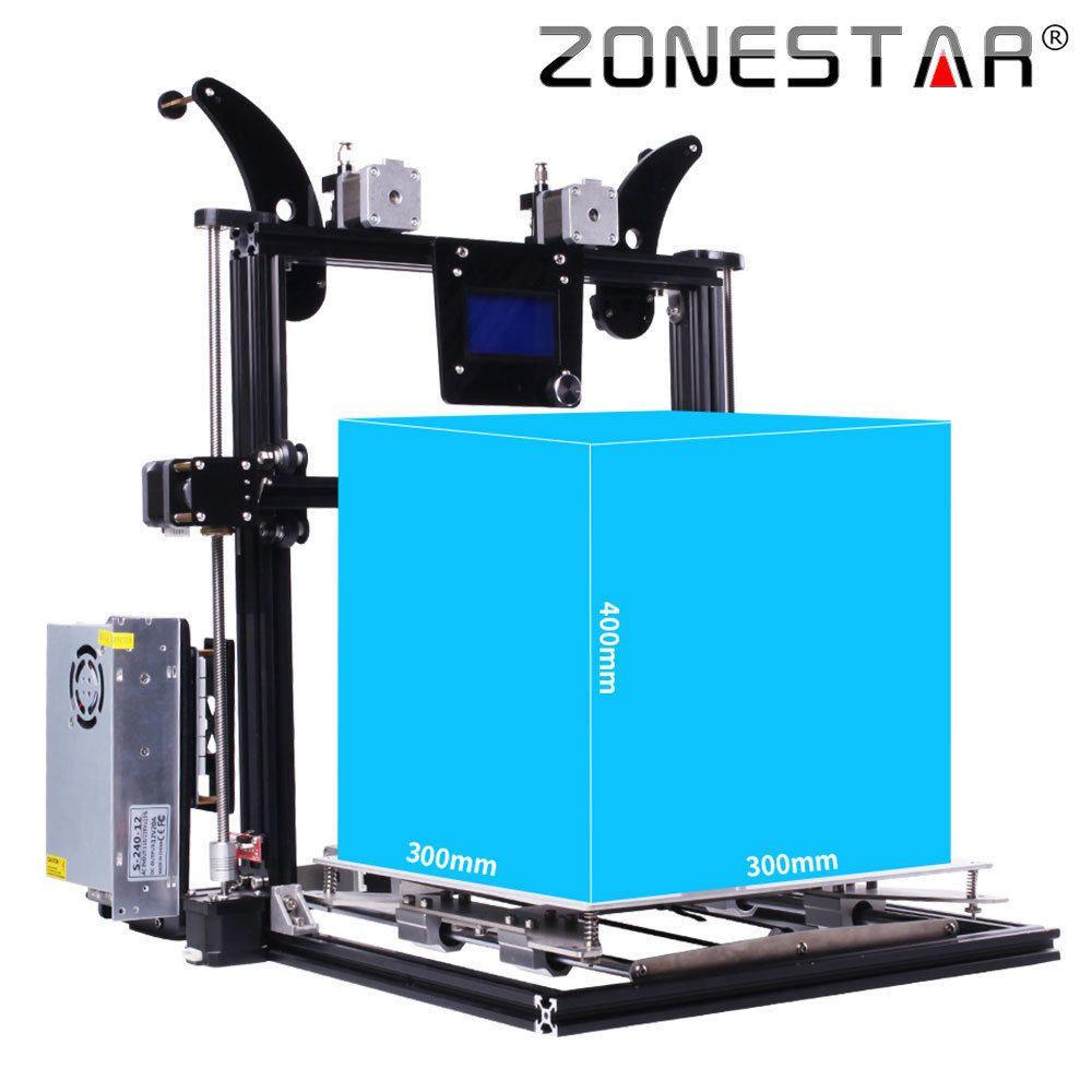 Zonestar 2018 Neueste Upgrade Grosse Grosse One Dual Drei Extruder