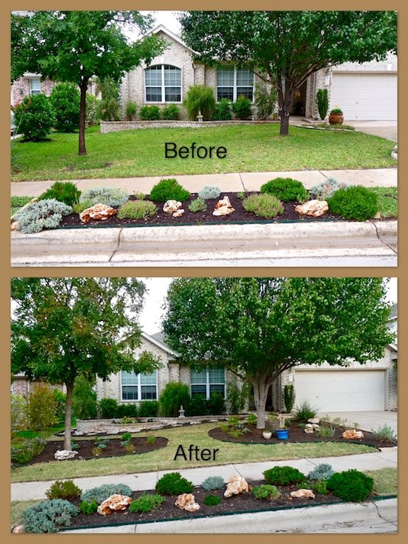 Small Front Yard Landscaping Before And After : A new xeriscaped front yard granite grasses and yards