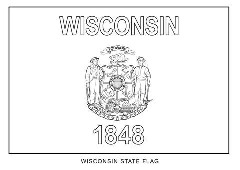 Wisconsin State Flag Coloring Page From Wisconsin Category Select
