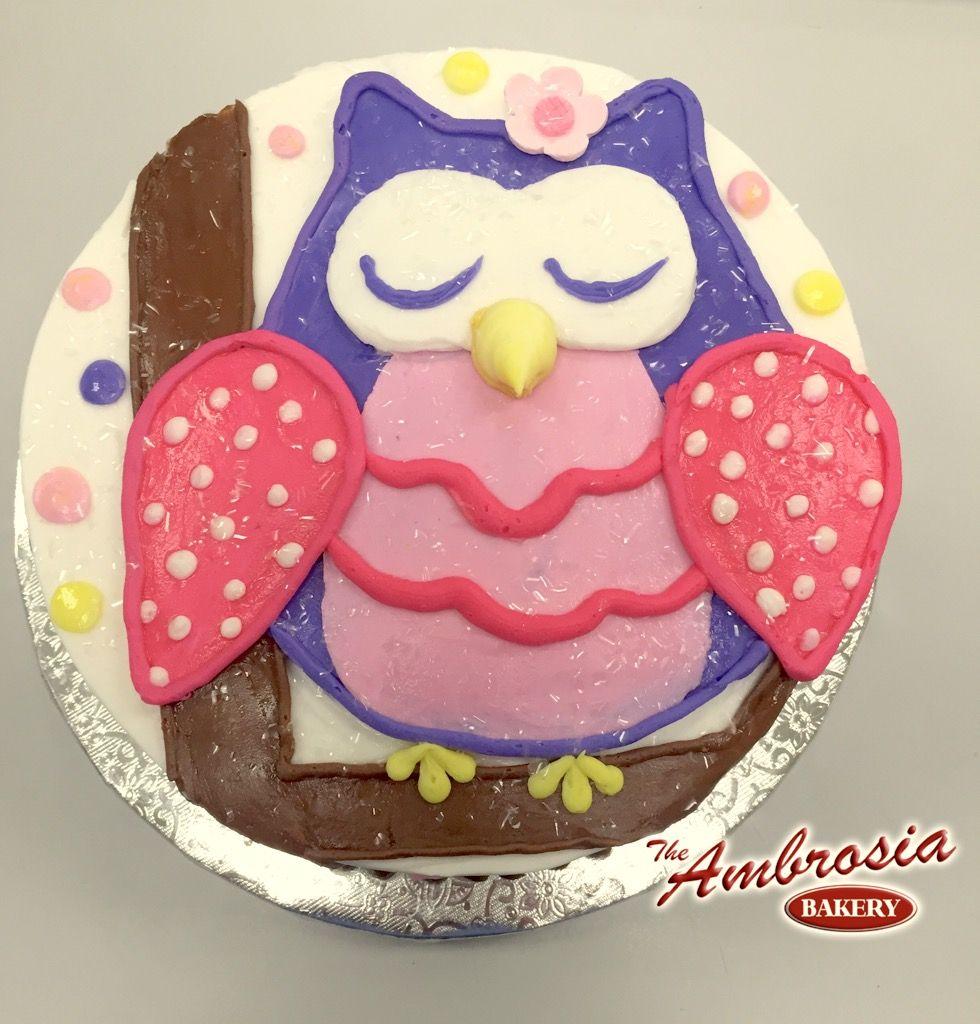 Piped Owl Smash Cake | The Ambrosia Bakery Cake Designs- Baton Rouge ...