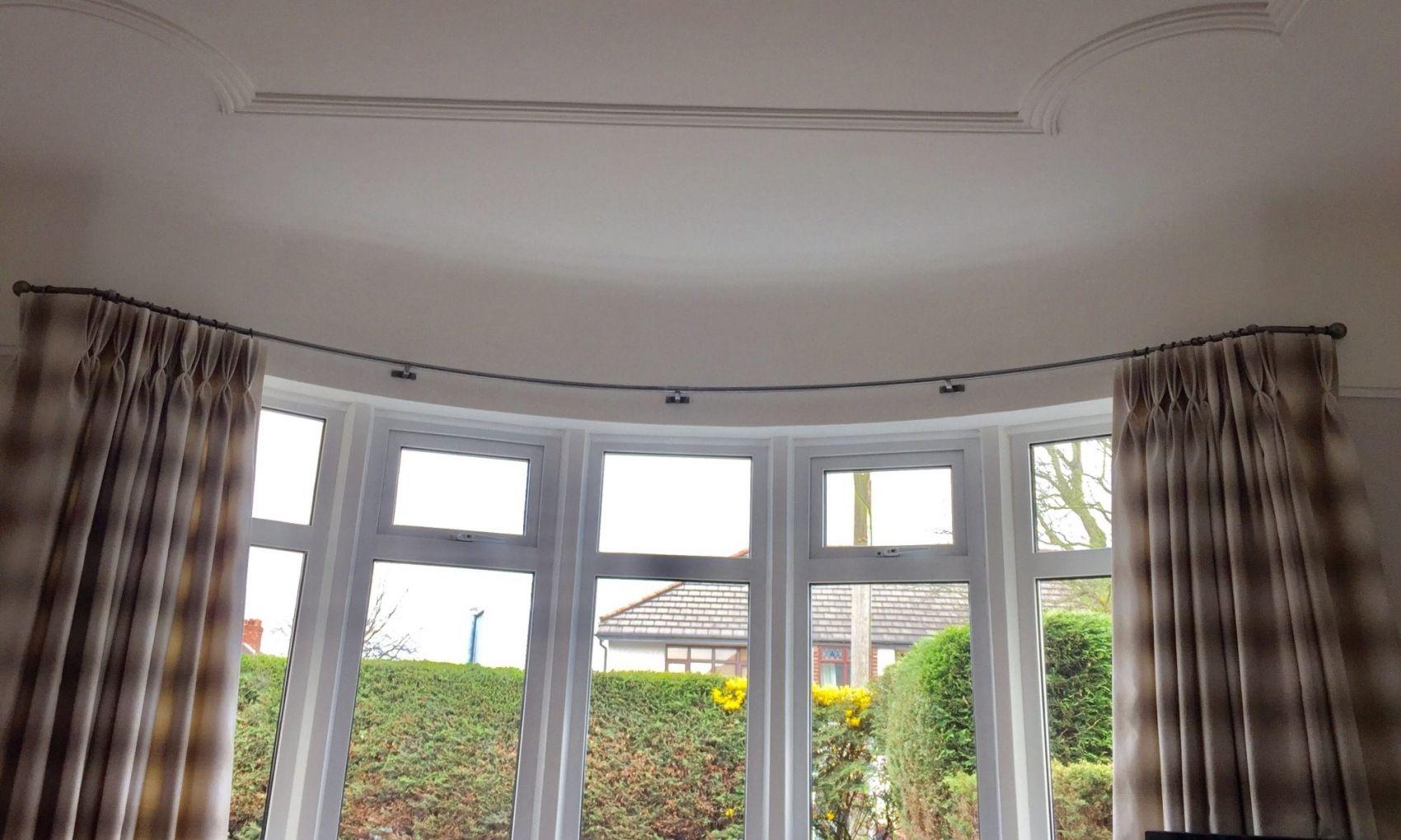 Awesome bay window curtain pole wc15uik8 bow window