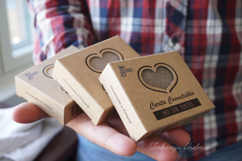 Natural handmade saltsoap from Finland.   Carita Cosmetiikan ihanat suolasaippuat sopivat niin miehille kuin naisillekin, näihin me ja ihomme olemme rakastuneet täysin <3