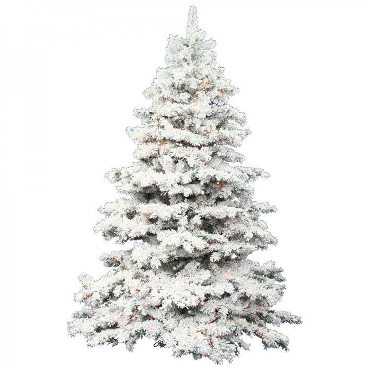 3 ft Pre Lit Christmas Tree Tabletop Flocked Alaskan Artificial