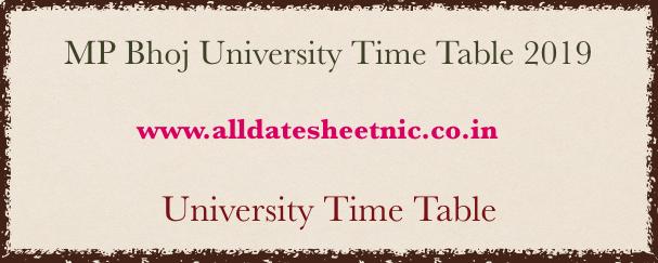 Mp Bhoj University Time Table 2019 Bhoj Open University Ba Bsc
