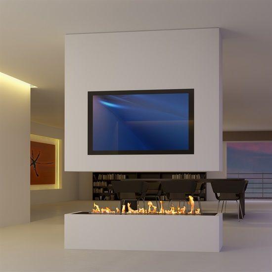 Sonderanfertigung 8 Raumteiler Mit Tv Und Bioethanol