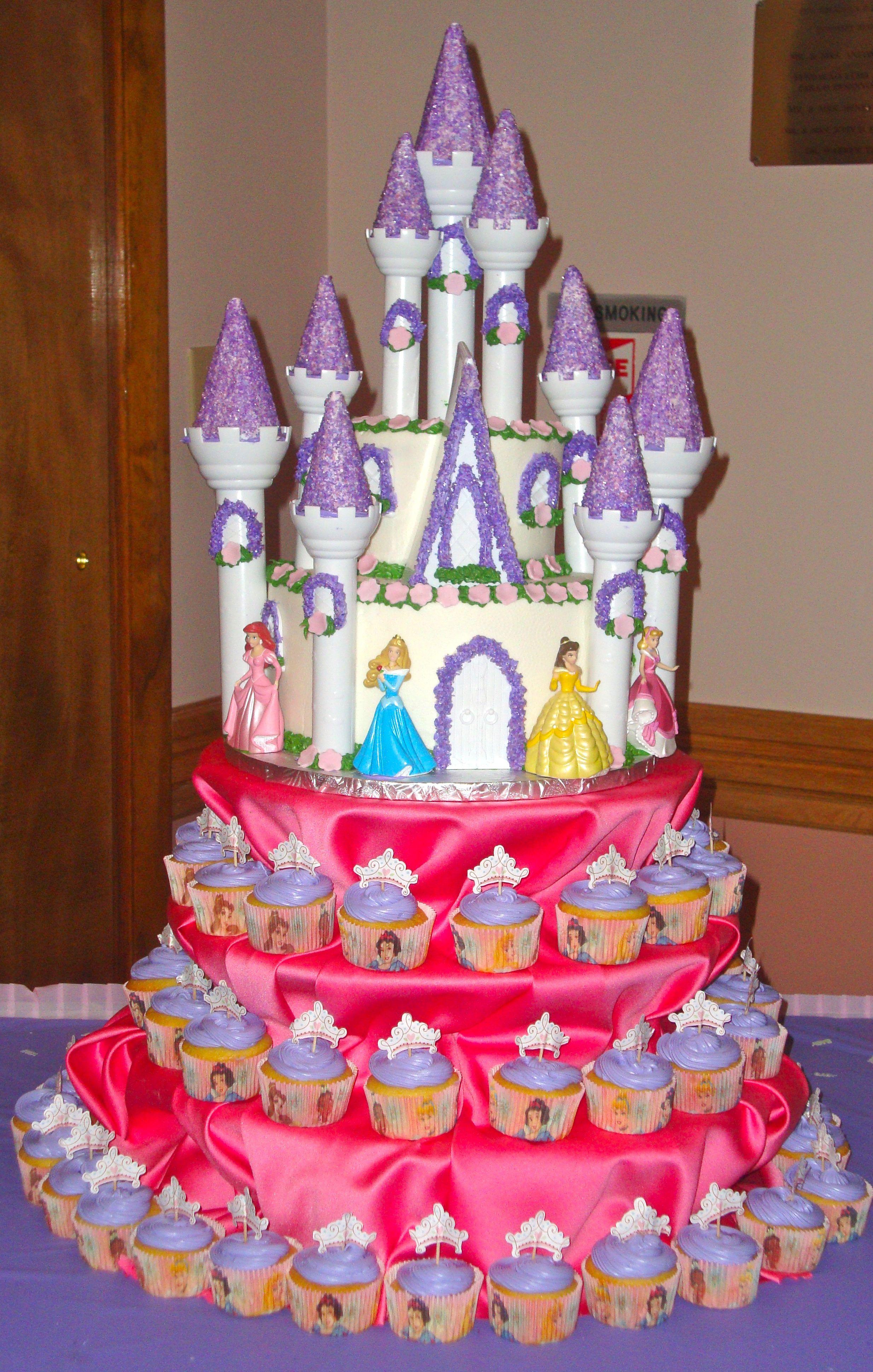Awesome Disney Princess Cupcake Tower Disney Princess Cupcakes Princess Funny Birthday Cards Online Inifodamsfinfo