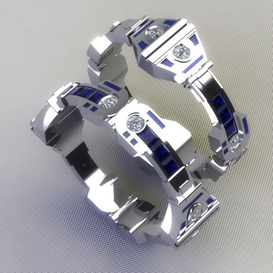 Amazing R2 D2 Wedding Ring And Bands Talk Nerdy 2 Me Pinterest