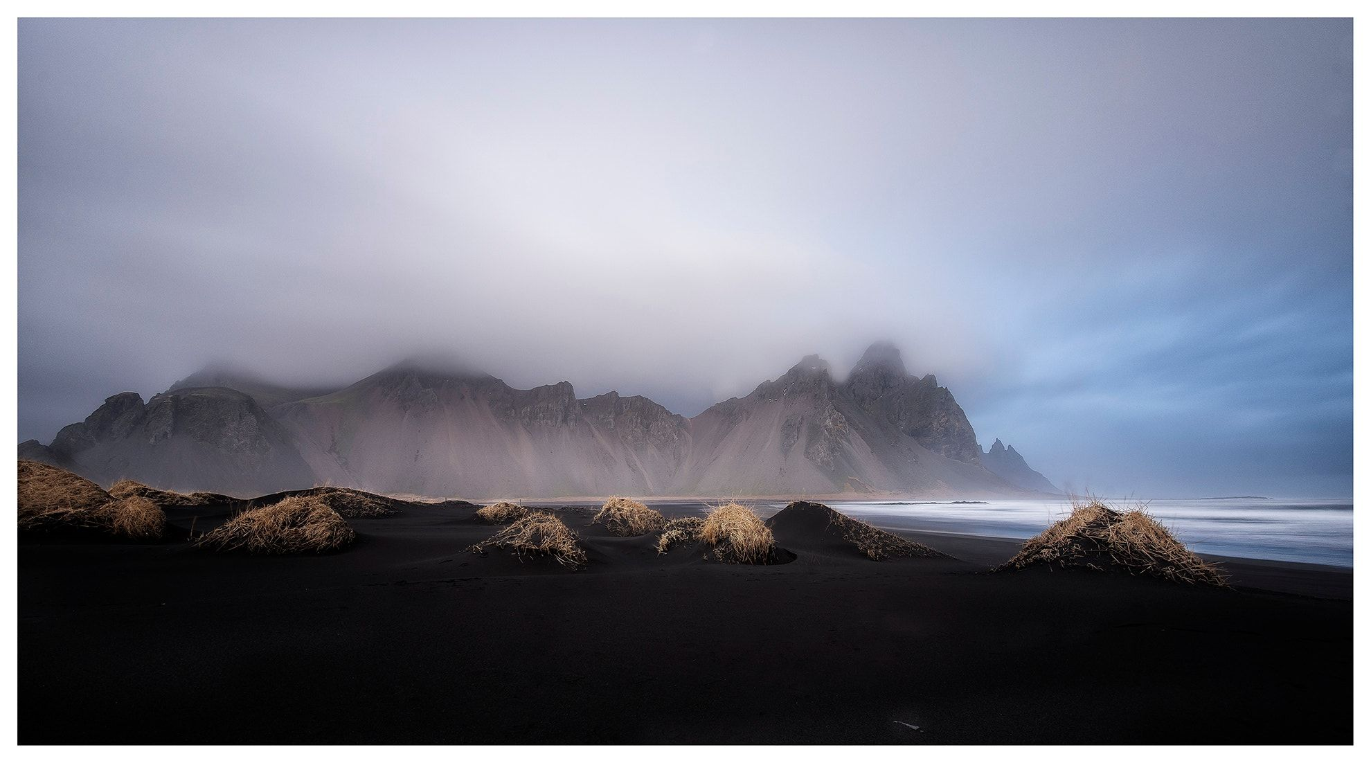 Vestrahorn in Stokksnes - With its black sand and craggy mountains, this beach near Höfn in the southeast of the island is unlike anything you've seen before