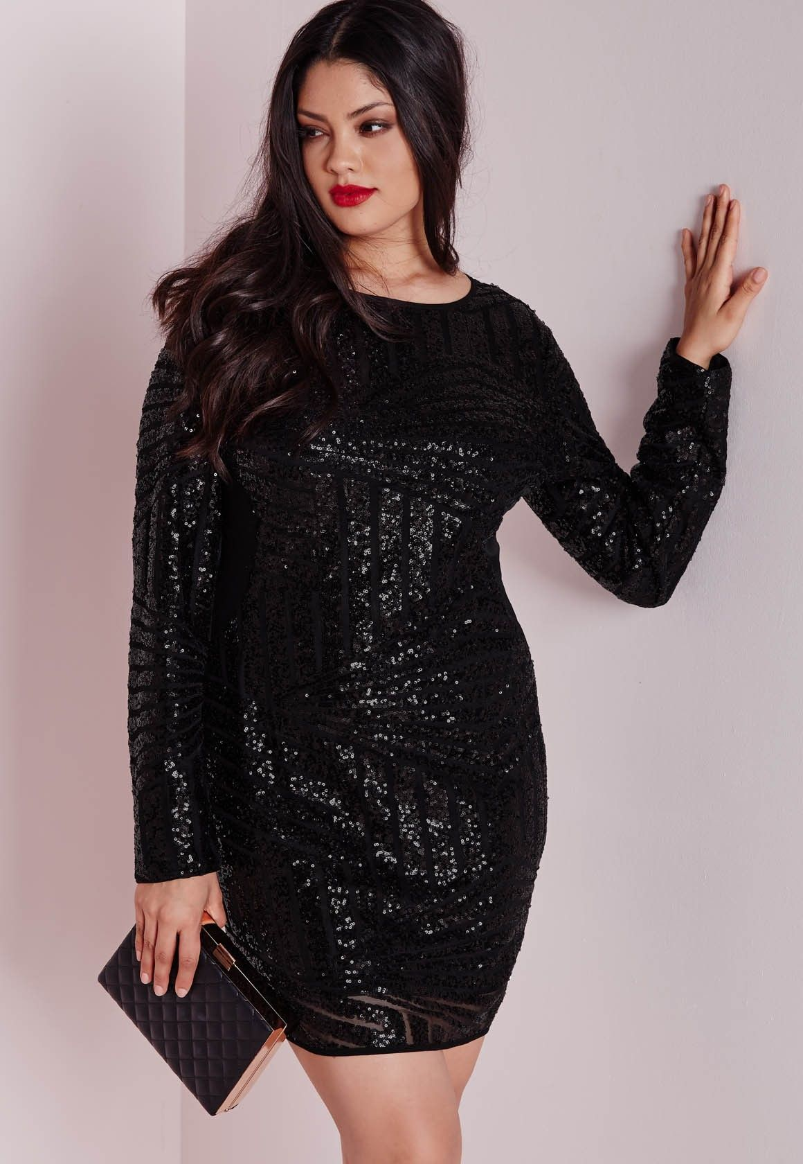 7f0851ed Long Sleeved Sequin Dress Plus Size – DACC