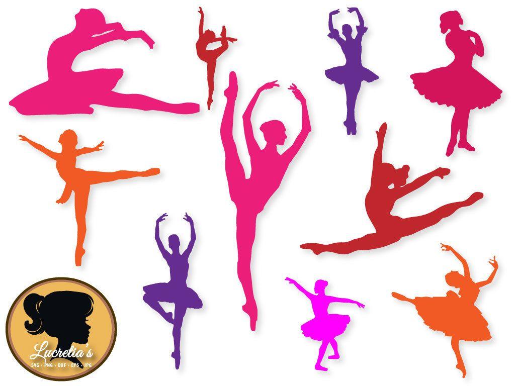 Ballerina in formato SVG, ballerini SVG taglia file, file per Silhouette Cameo o Cricut, coppia svg, vettoriale, svg, dxf eps da LucretiasSvg su Etsy Studio