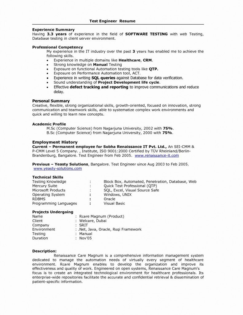Sample Resume Format For 5 Years Experience 2021 In 2021 Sample Resume Format Resume Format Resume No Experience