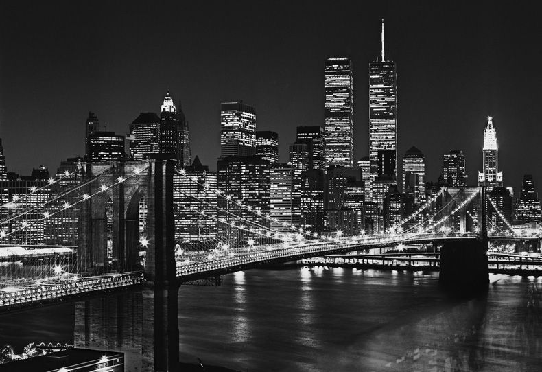 New york landscape always breathtaking in black and white - Poster mural new york ...