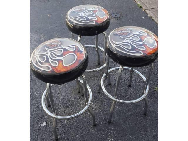 Used Harley Davidson Bar Stools Used Furniture Pinterest Bar