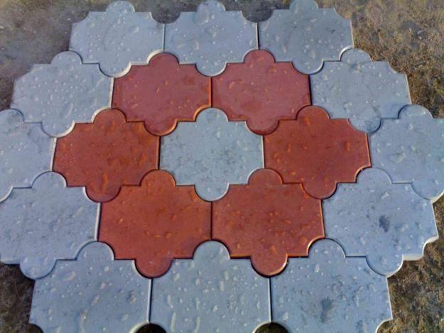 Pictures Of Designer Tiles Concrete And Rubber Mould Pavers Tile Design Design Design Inspiration