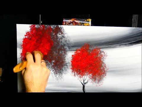 Hypnotizing Painting Techniques Fan Brush Acrylics Red