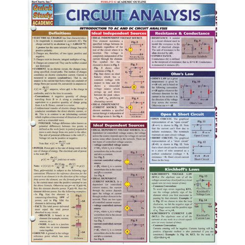 Circuit Analysis Study Chart at xUmp com | Books and Study