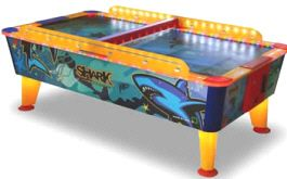 Shark Weatherproof Coin Operated Air Hockey Table From Punchline Games