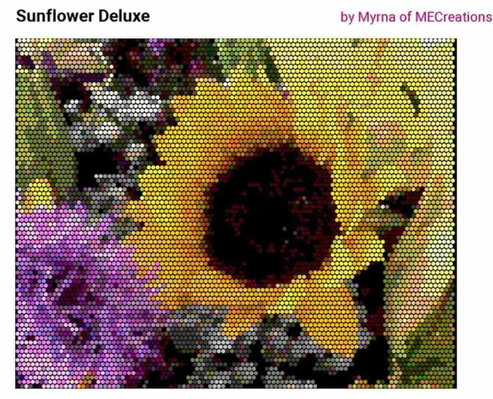 Sun+Flower+Deluxe+Peyote+Picture+Pattern+(PDF)