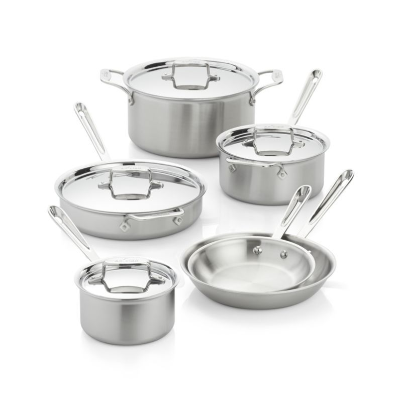 All Clad D5 10 Piece Cookware Set Cookware Set Induction Cookware Cookware Sets All clad d5 10 piece