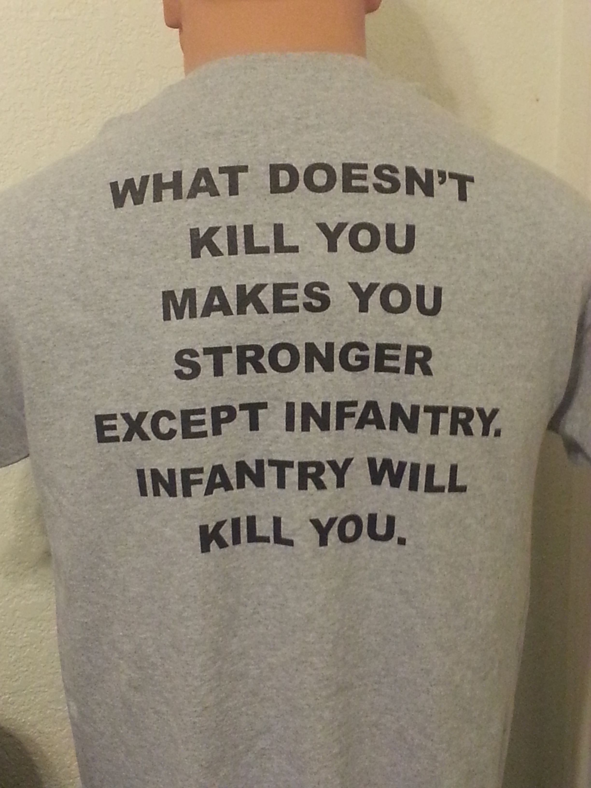 Infantry will kill you T-shirt. find it here: http://327infantry.org/shop/ Med - 3XL