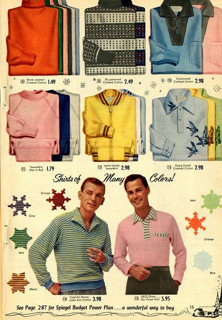 1955 Spiegel Christmas Catalog Vintage Clothing Men 1950s Fashion Menswear 1960s Fashion Mens