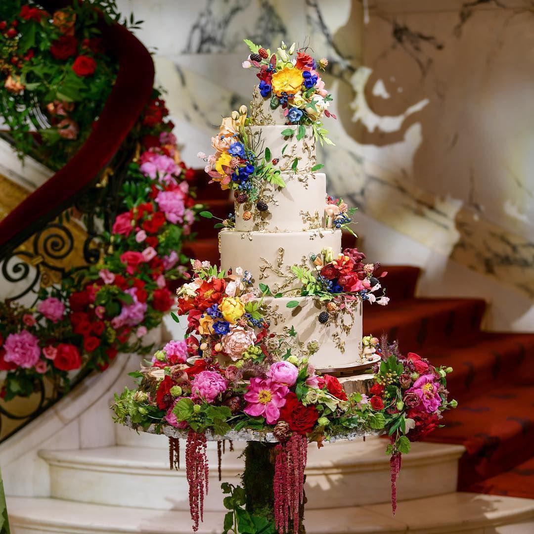 Wedding Cake Splendor Almost Too Pretty To Eat Via Prestonrbailey I Am Never One To Push My Brides To Do Th Wedding Cakes Bridal Shower Cakes Cake
