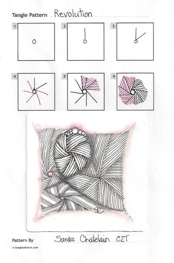 Revolution ~ Zentangle #tangle by Sandra Chatelain