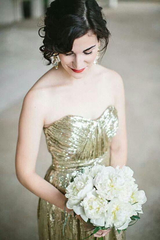 Noiva de dourado