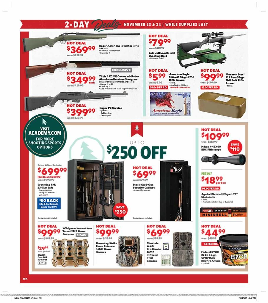 Academy Sports Black Friday 2018 Ads Scan Deals And Sales See The Academy Sports Black Friday Ad 2018 At 101blackfriday C Black Friday Ads Black Friday Sports
