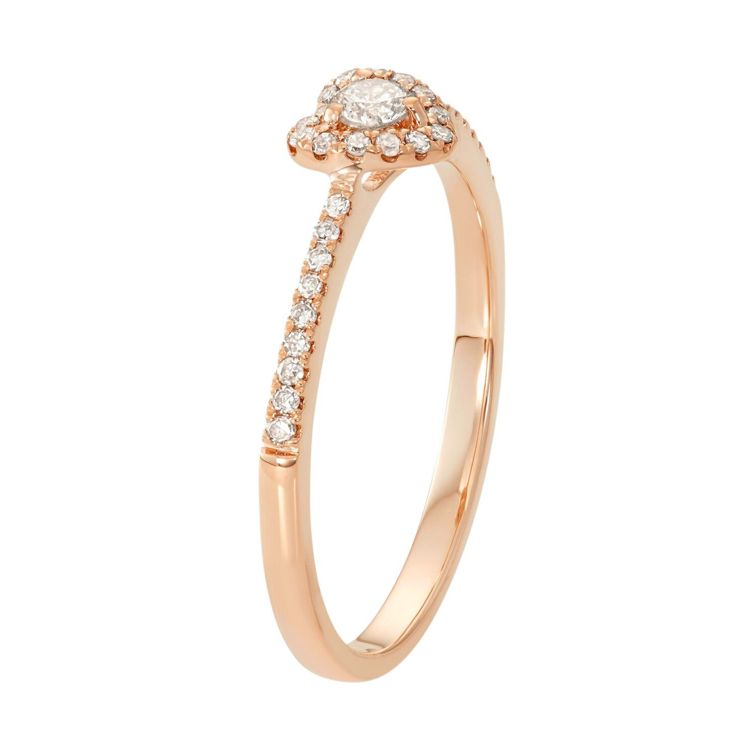 10k Rose Gold 1 4 Carat T W Diamond Heart Promise Ring Affiliate Gold Carat Rose Promise In 2020 Heart Promise Rings Diamond Heart Diamond Promise