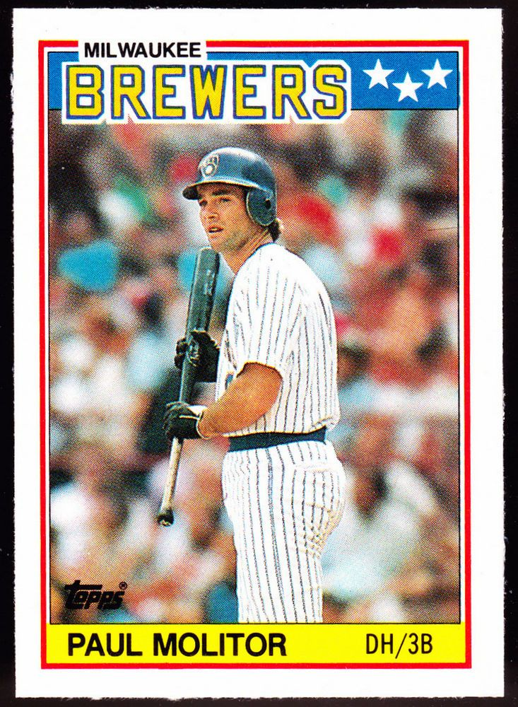 MILWAUKEE BREWERS MINNESOTA TWINS 1988 TOPPS PAUL MOLITOR MINI NMMT CONDITION #MilwaukeeBrewers