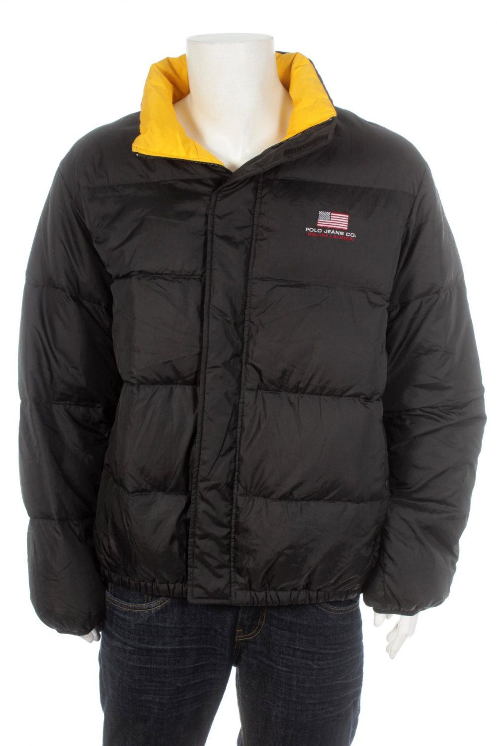 e3e571ac6 Vintage 90S Polo By Ralph Lauren Goose Down Puffer Jacket Black Size Xl by  VapeoVintage on