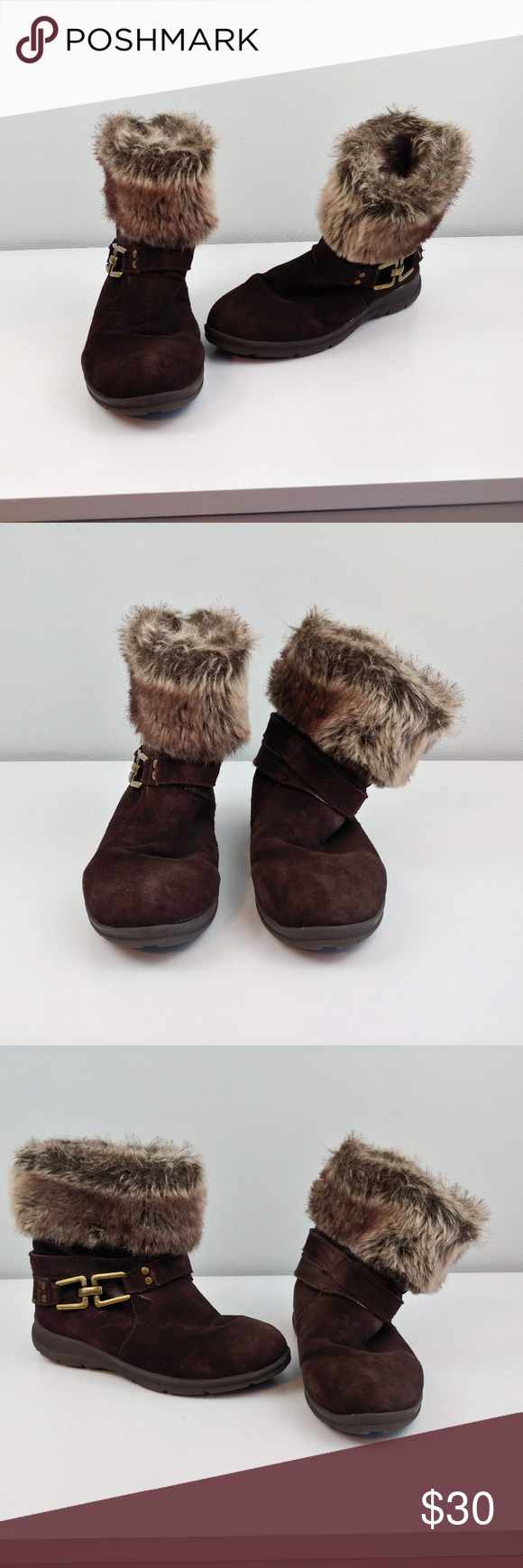68d73744c5d Womens 7 White Mountain ankle winter boots brown Womens 7 White Mountain  ankle winter boots brown