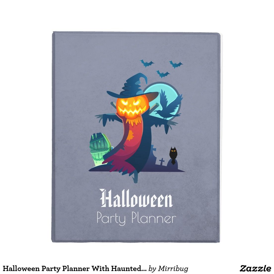 Halloween Party Planner With Haunted Scarecrow Mini Binder ...