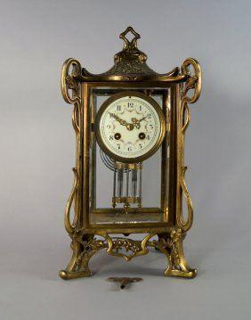 A French Gilt Bronze Mantel Clock, Late 19th Century,