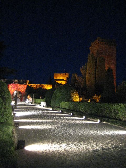 The entrance to the Château at La Napoule and its gardens, French Riviera
