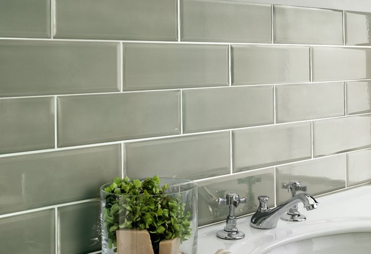 Piastrelle verde salvia sage green colour tile bathroom tile