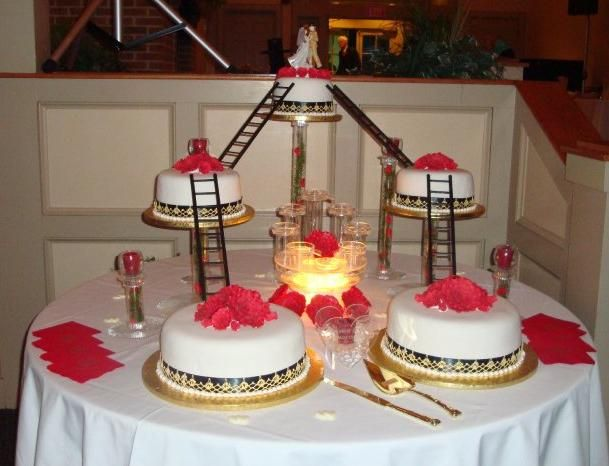 fireman themed wedding cakes fighters wedding cake above kevin cahoon in the 14272